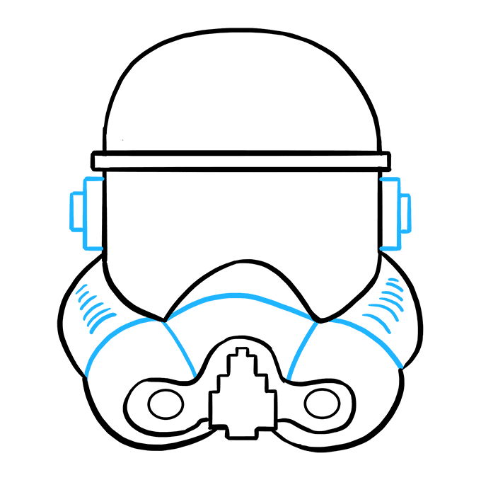 How to Draw Stormtrooper Helmet: Step 8