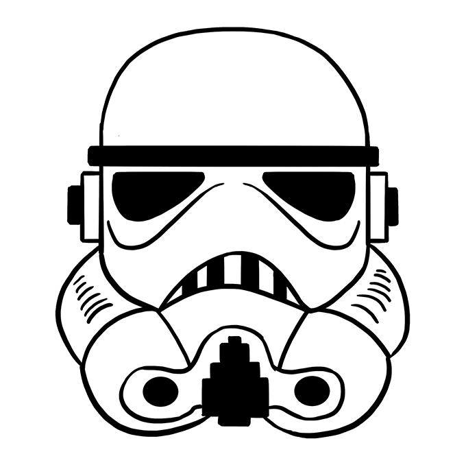 How to Draw Stormtrooper Helmet: Step 10