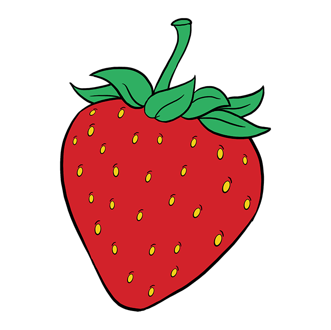 How to Draw Strawberry: Step 10