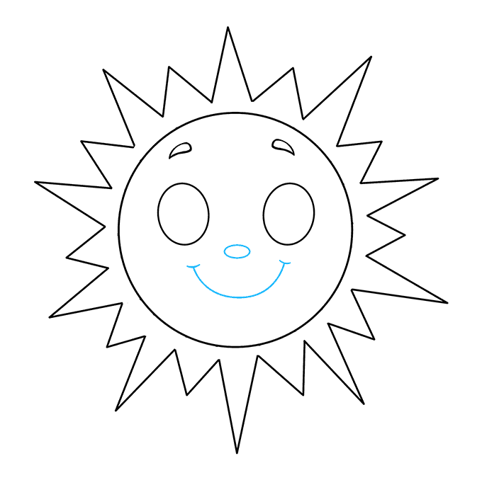 How to Draw Sun: Step 8