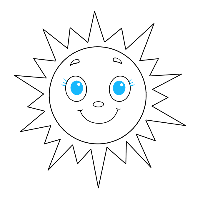 How to Draw Sun: Step 9
