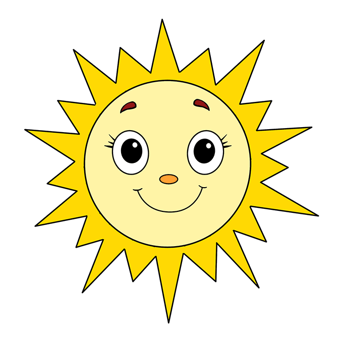 How to Draw Sun: Step 10
