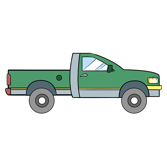 How to Draw Truck: Step 10