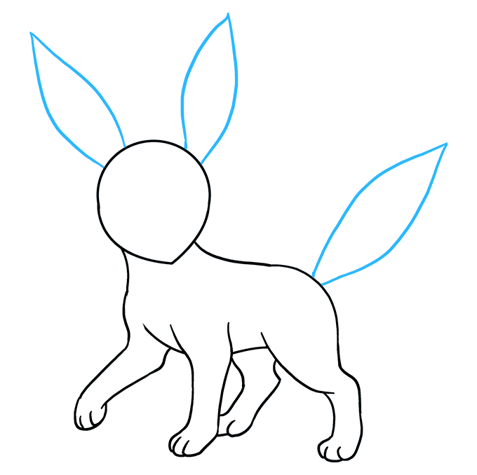 How to Draw Umbreon Step 07