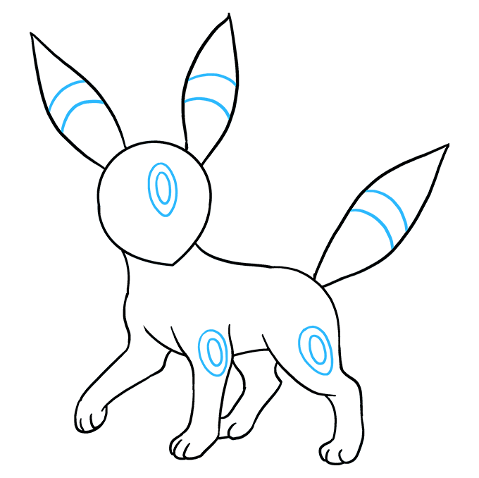 How to Draw Umbreon Step 08