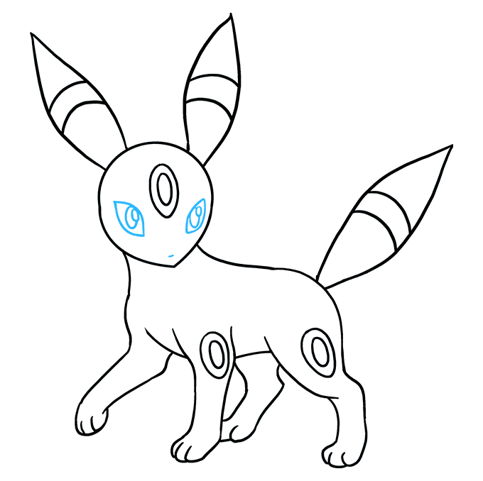 How to Draw Umbreon Step 09