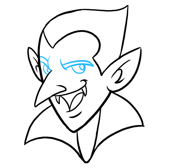 How to Draw Vampire: Step 9