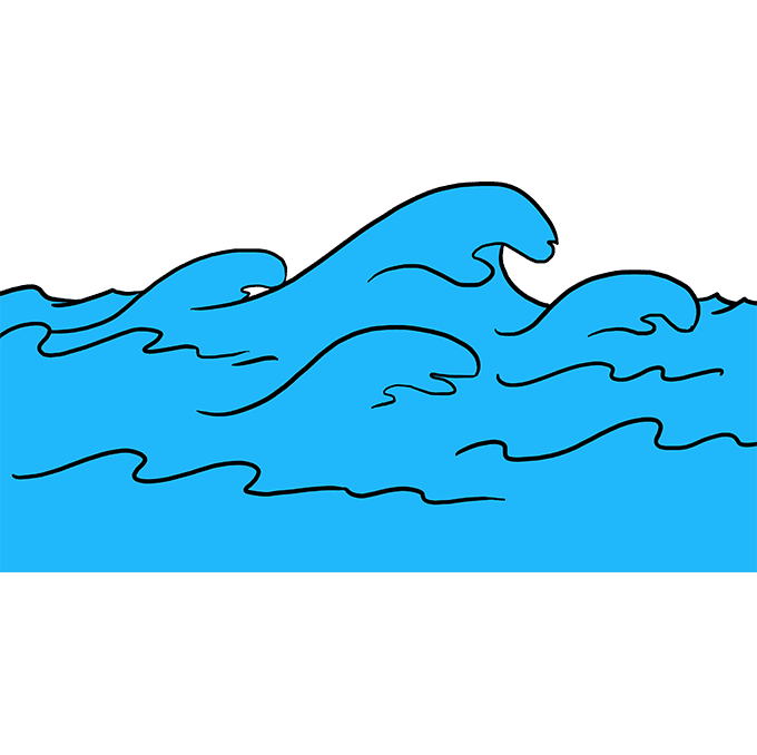 How to Draw Waves: Step 10