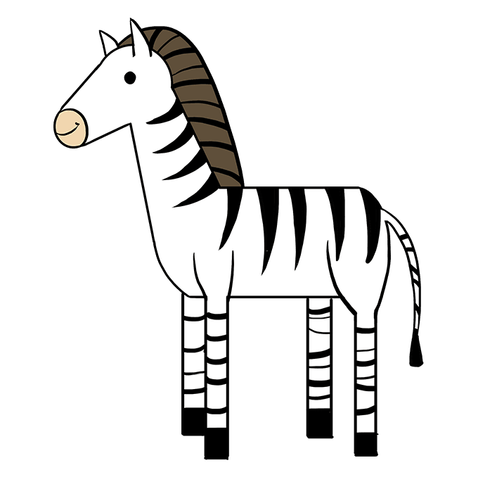 How to Draw Zebra: Step 10