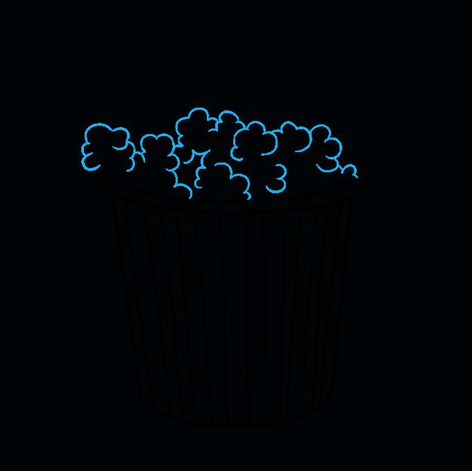 How to Draw Popcorn: Step 6