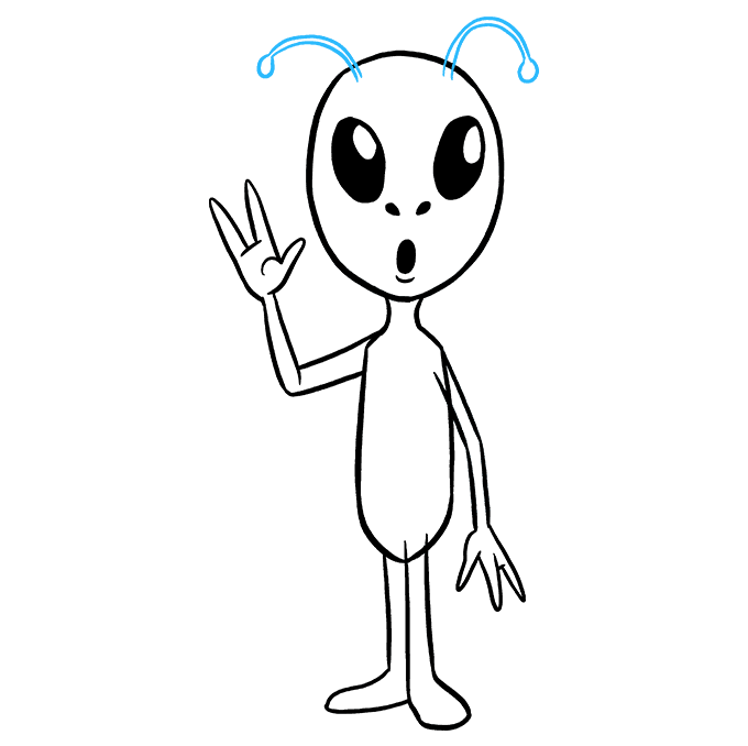 How to Draw Alien: Step 8