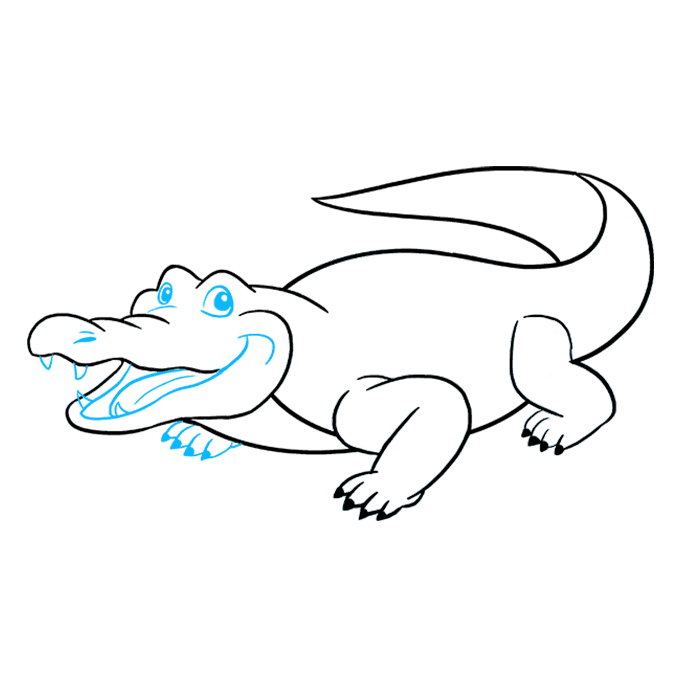 How to Draw Alligator: Step 8