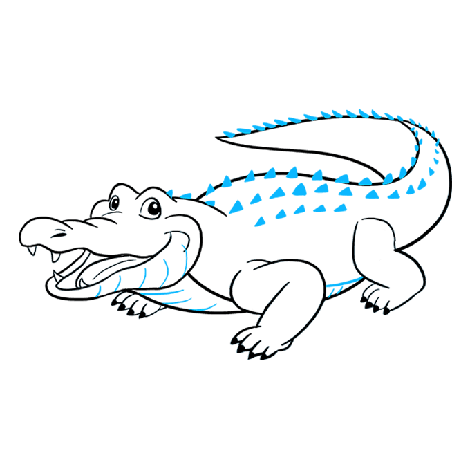 How to Draw Alligator: Step 9