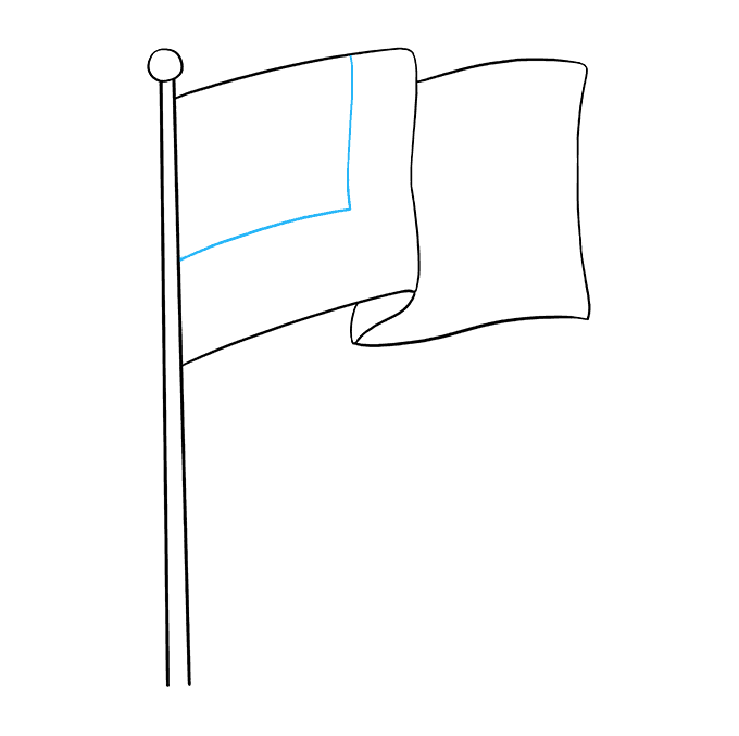 How to Draw American Flag: Step 6