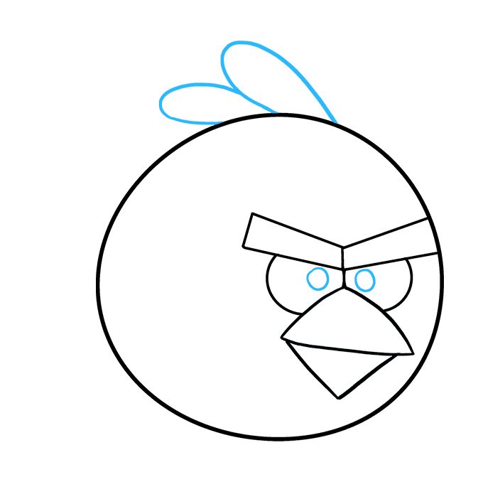 How to Draw Angry Birds Step 08