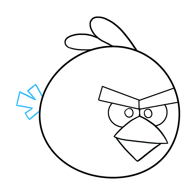 How to Draw Angry Birds: Step 9