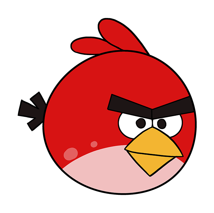 How to Draw Angry Birds: Step 10