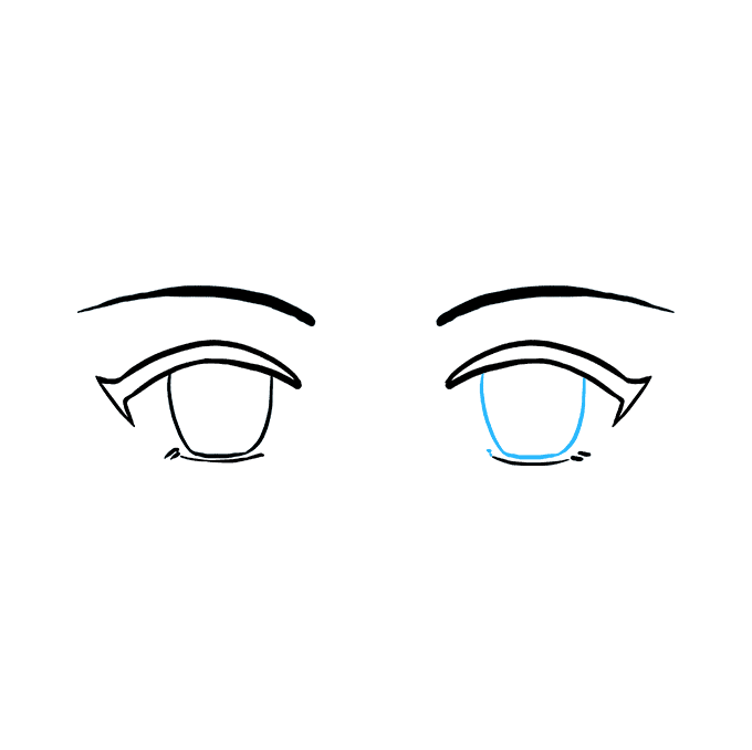 How To Draw Anime Eyes Really Easy Drawing Tutorial