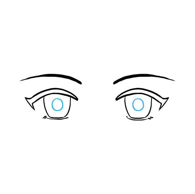 How to Draw Anime Eyes Step 07