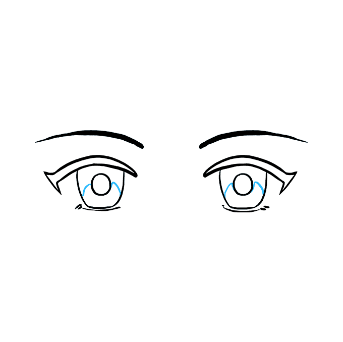 How to Draw Anime Eyes: Step 8