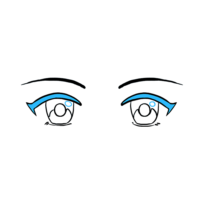 How to Draw Anime Eyes: Step 9