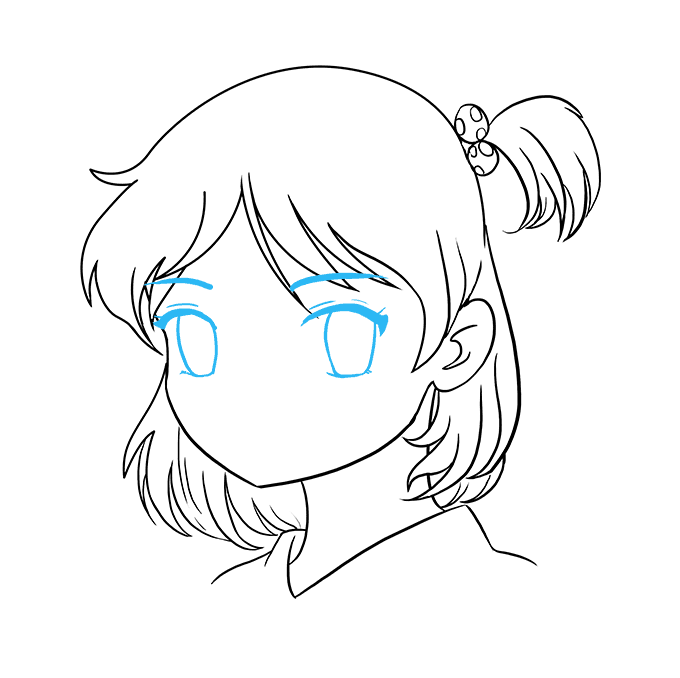 How to Draw Anime Girl Face: Step 8