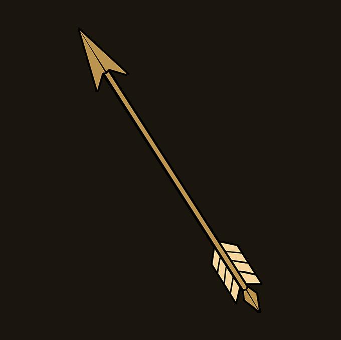How to Draw Arrow Step 10