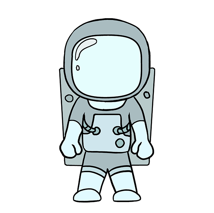 How to Draw an Astronaut Step 10