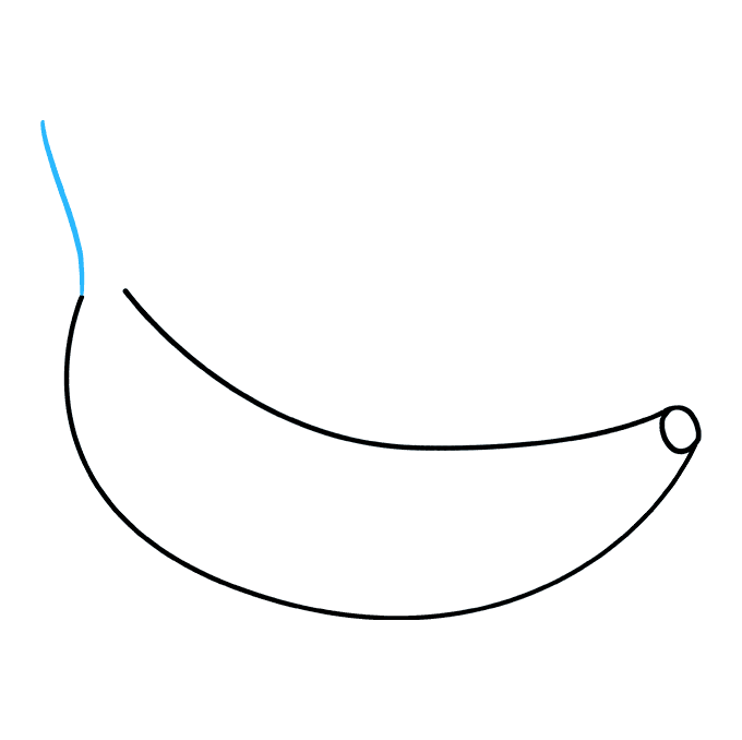How to Draw Banana: Step 4