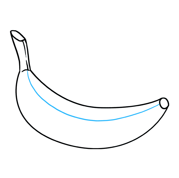 How to Draw Banana: Step 8
