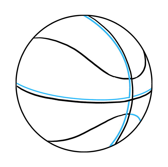 How to Draw Basketball: Step 8