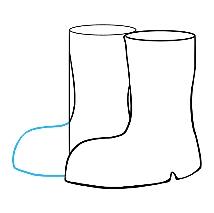 How to Draw Boots: Step 7