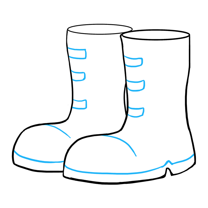 How to Draw Boots: Step 9