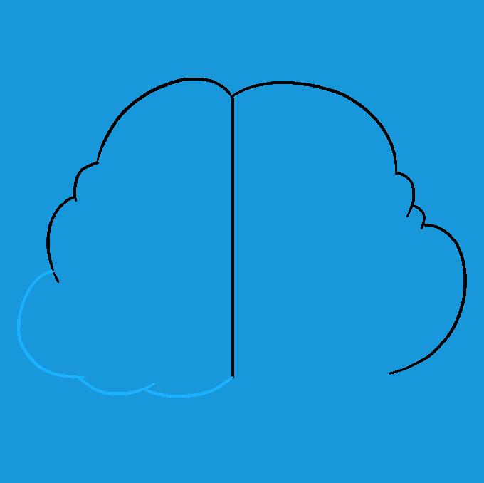 How to Draw Brain: Step 4