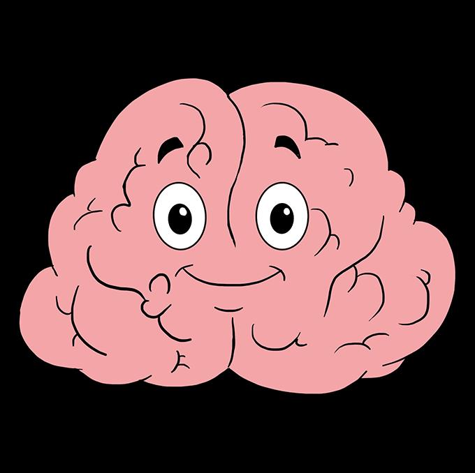 How to Draw Brain: Step 10