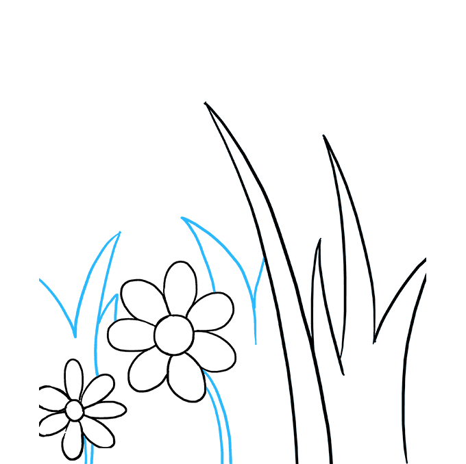 How to Draw Butterfly Garden Step 04