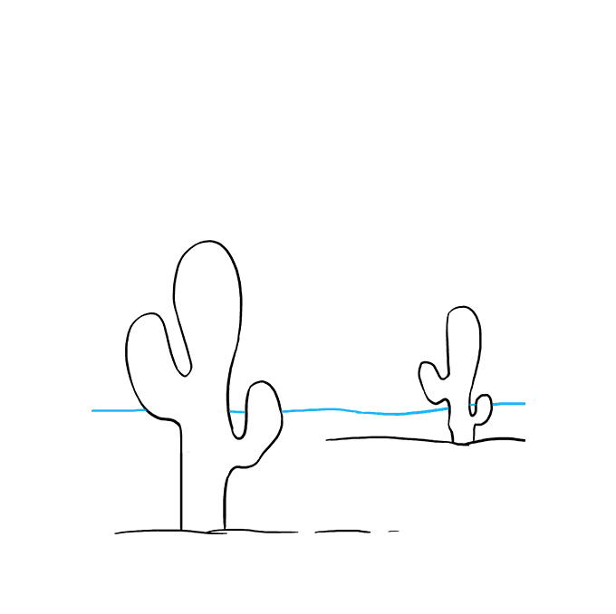 How to Draw Cactus: Step 7