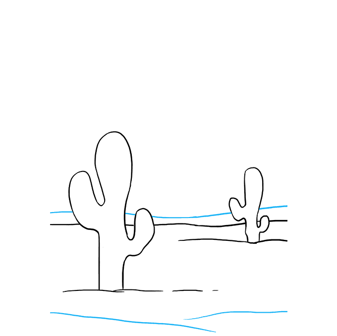 How to Draw Cactus: Step 8