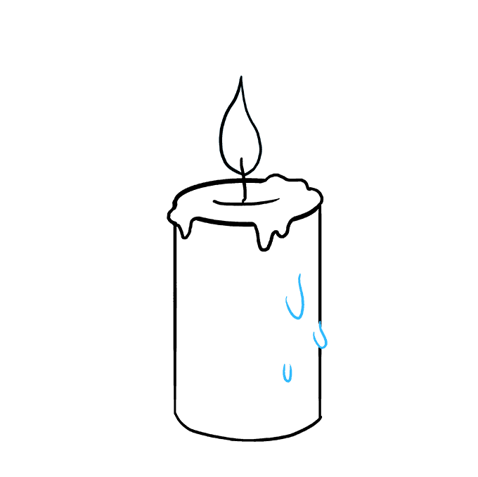 How to Draw Candle: Step 8