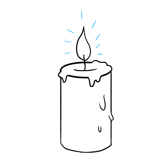 How to Draw Candle: Step 9