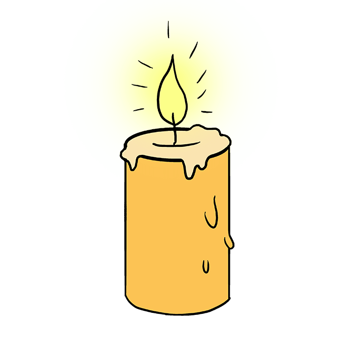 How to Draw Candle: Step 10