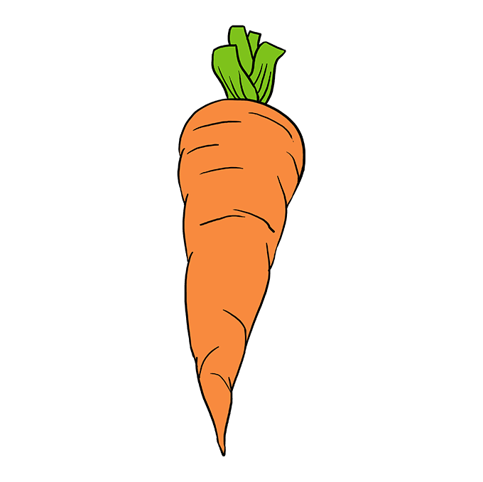 How to Draw Carrot: Step 10