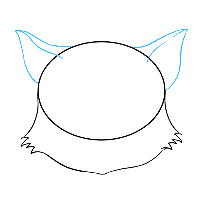 How to Draw a Cat Face Step 04
