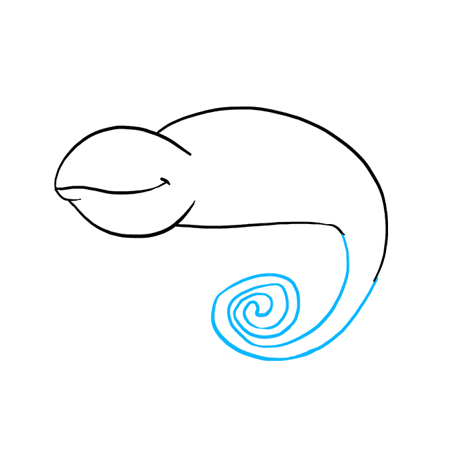 How to Draw a Chameleon Step 03