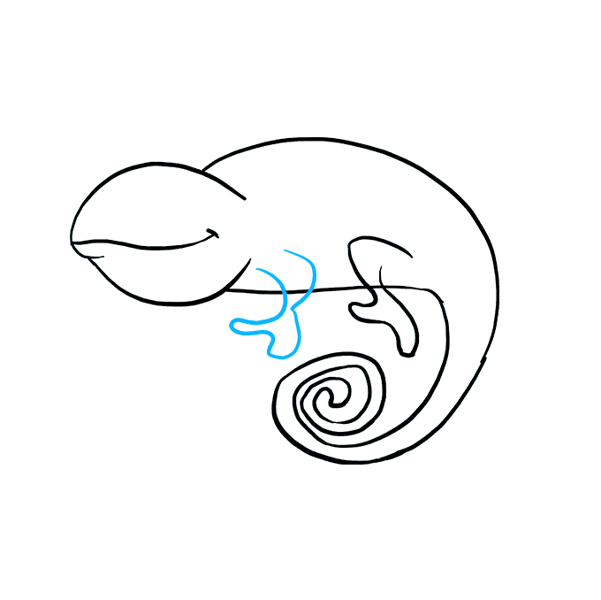 How to Draw a Chameleon Step