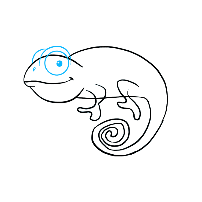 How to Draw a Chameleon Step 06