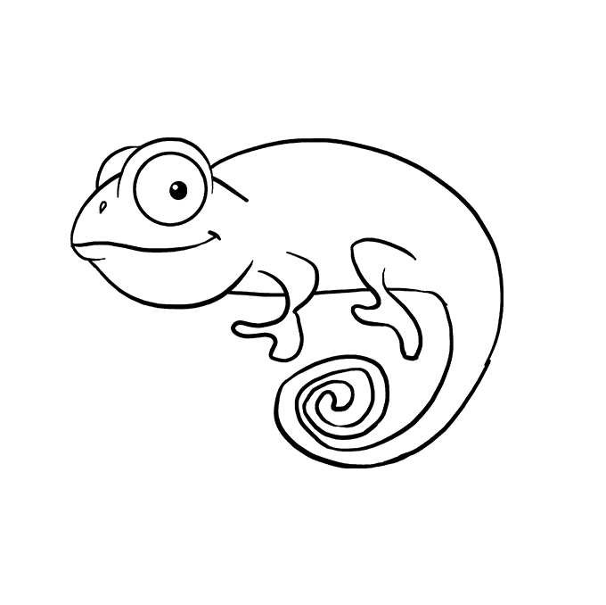 How to Draw a Chameleon Step 07