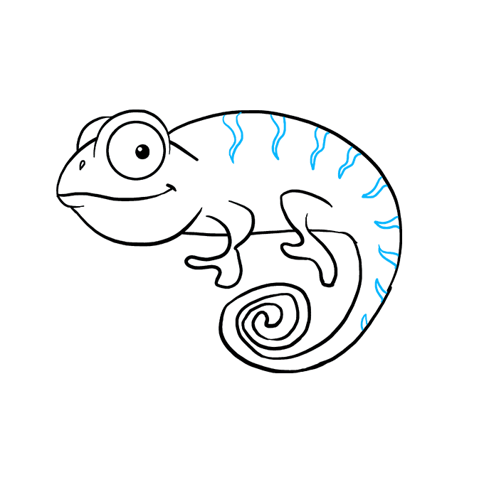 How to Draw a Chameleon Step 08