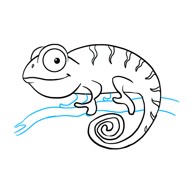 How to Draw a Chameleon Step 09