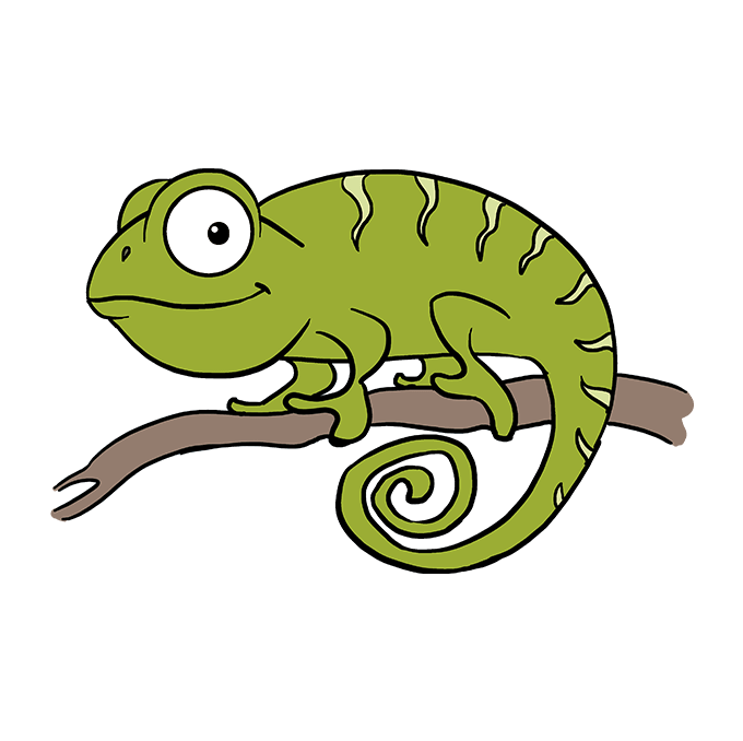 How to Draw a Chameleon Step 10